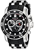 Image of Invicta Men's 'Pro Diver' Swiss Quartz Stainless Steel and Polyurethane Diving Watch, Color:Black (Model: 6977)