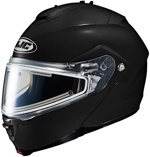 HJC IS-Max 2 Element Modular Snowmobile Helmet with Electric Shield, Solid Black (X-Large) ()