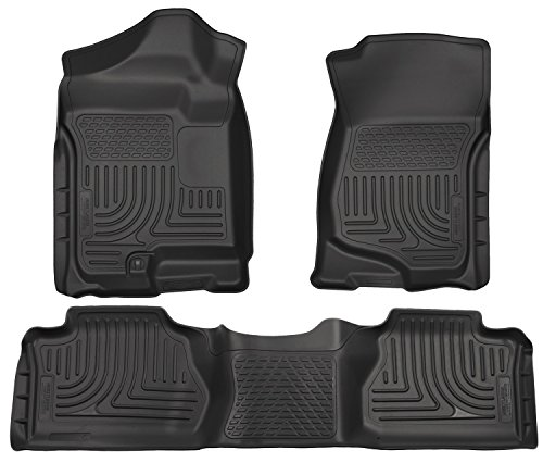 Husky Liners Front&2nd Seat Floor Liners Fits 07-13 Silverado/Sierra ()