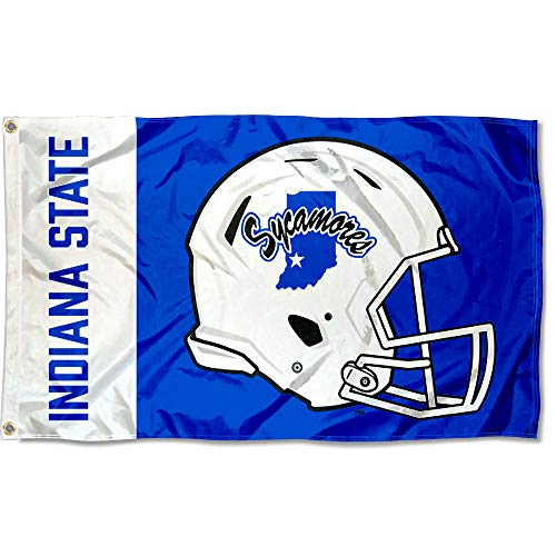 College Flags and Banners Co. Indiana State Sycamores Football Helmet Flag