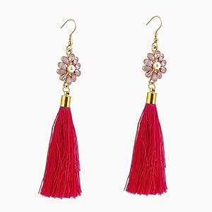 Long tassel fringe Boho dangle vintage fashion earrings