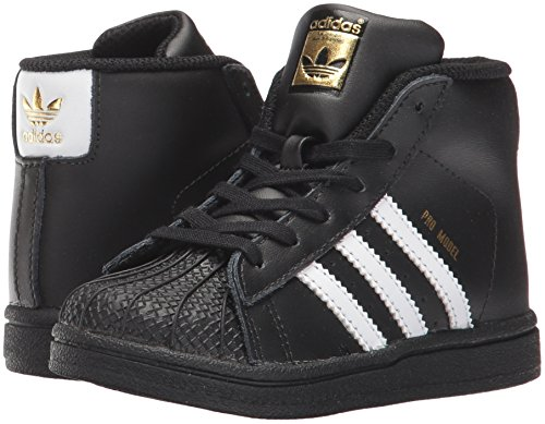 Pictures of adidas Baby Pro Model Inf Sneaker Core BY4399 Core Black,white, Gold Met. 4