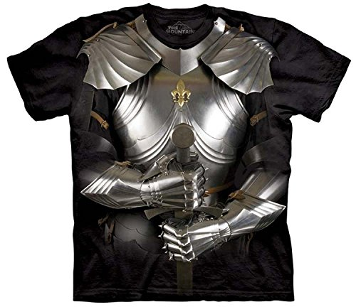 The Mountain Body Armor Knight Adult T-Shirt XL Black (Knights Body Armor)