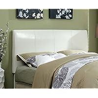 Furniture of America Towne Modern Leatherette Headboard, Espresso, White, Full to Queen