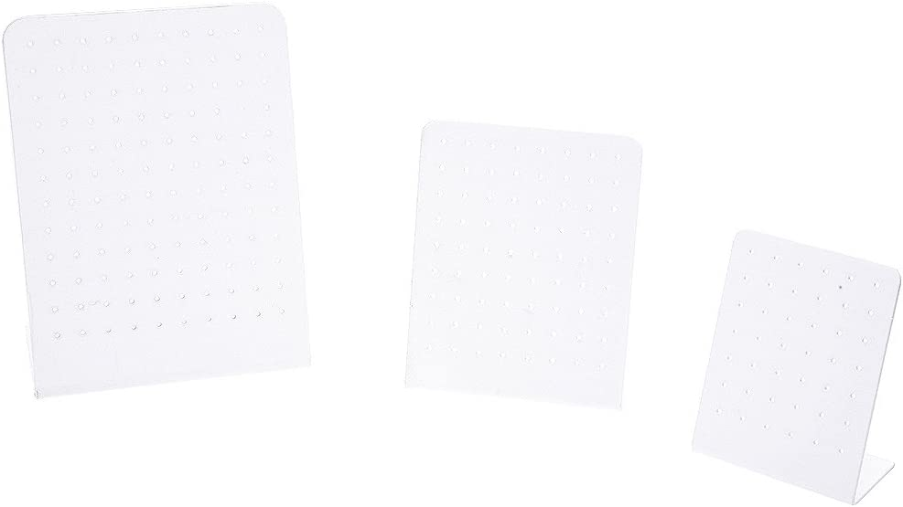 3,9 pouces 3,2 pouces R Plastique blanc support Stand presentoir pour Boucles doreilles Support de bijoux Kit 5,3 pouces SODIAL