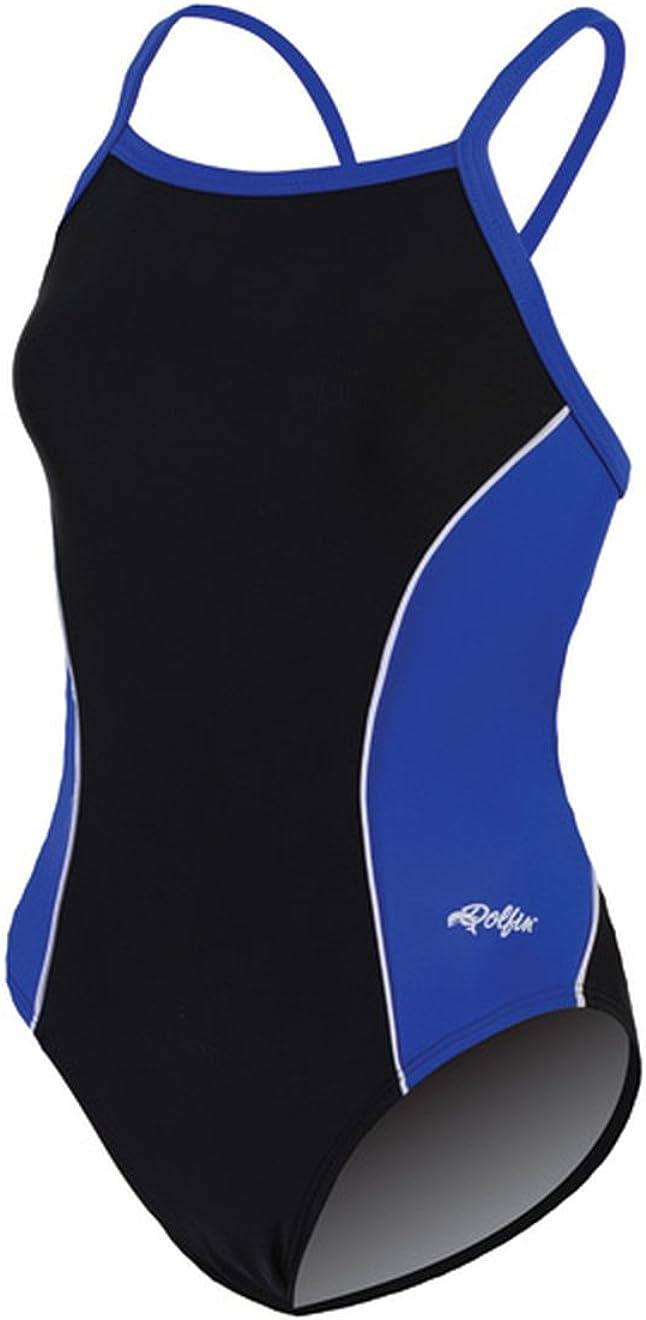 Dolfin 9672L Women's Team Panel V2 Back Swimsuit