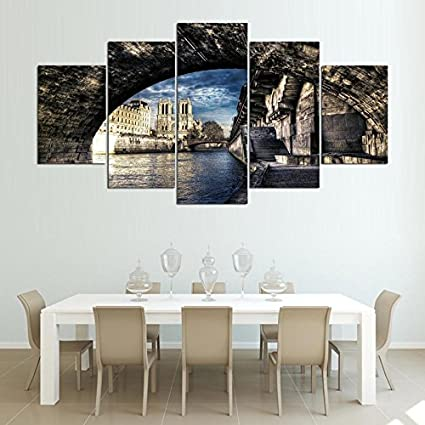 Amazon.com: Home Decor Printed Pictures Frame Canvas Wall Art 5 ...