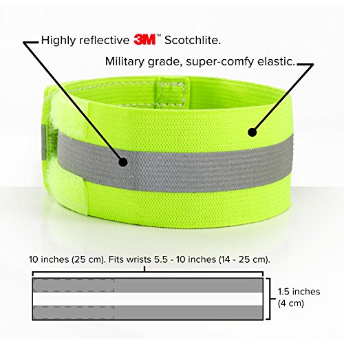 High Visibility Reflective Wristbands, Running Bracelets, Reflective Armbands Safety Running Gear