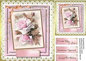 Lovely diseño de rosas en encaje by Ceredwyn Macrae