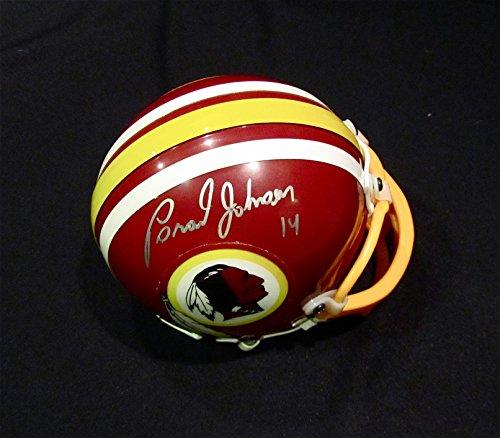 Johnson Autographed Mini Helmet (BRAD JOHNSON Autographed HAND SIGNED WASHINGTON REDSKINS MINI HELMET w/COA)