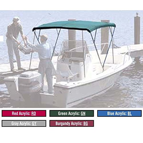 Attwood 342RD Fabric For 6 ft. Bimini Top With 3 Bows - Acrylic Red - 68-74 in.