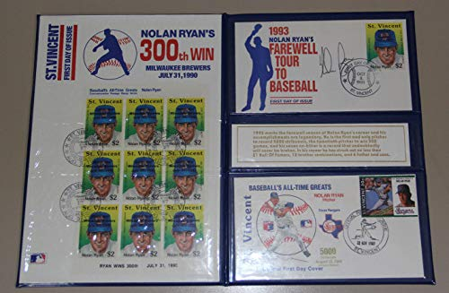 (1993 Nolan Ryan Autographed Signed Memorabilia 1st Day Issue Stamp Auto Booklet Beckett Bas)