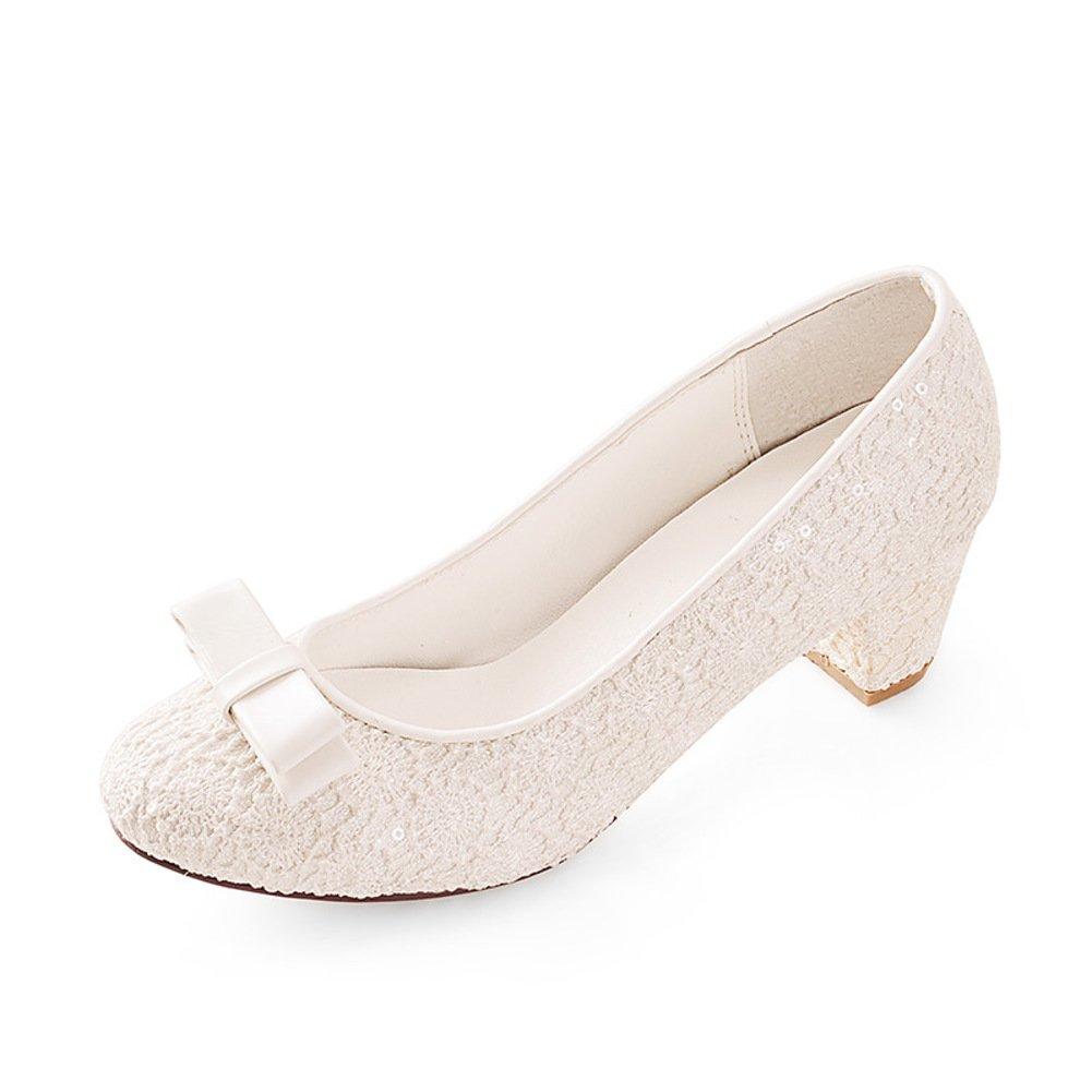 WLJSLLZYQ WLJSLLZYQ WLJSLLZYQ Frühlings-Mode-Schuhe/Chunky Heels Schuhe mit Spitzen Hochzeitsschuhe A de0d6b