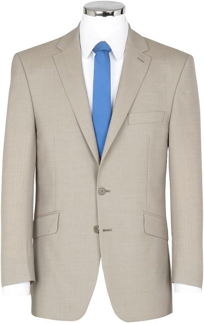 Amazon.com: Scott mezcla de lino piedra Suit Jacket, tamaño ...