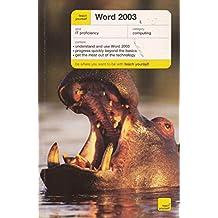 Teach Yourself Word 2003