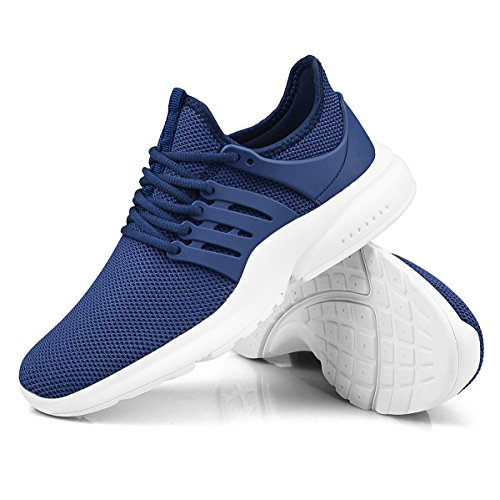 ZOCAVIA Walking Girls Women Sports for Running Trainers Athletic Casual Blue Lightweight Shoes White AApOw6qxr