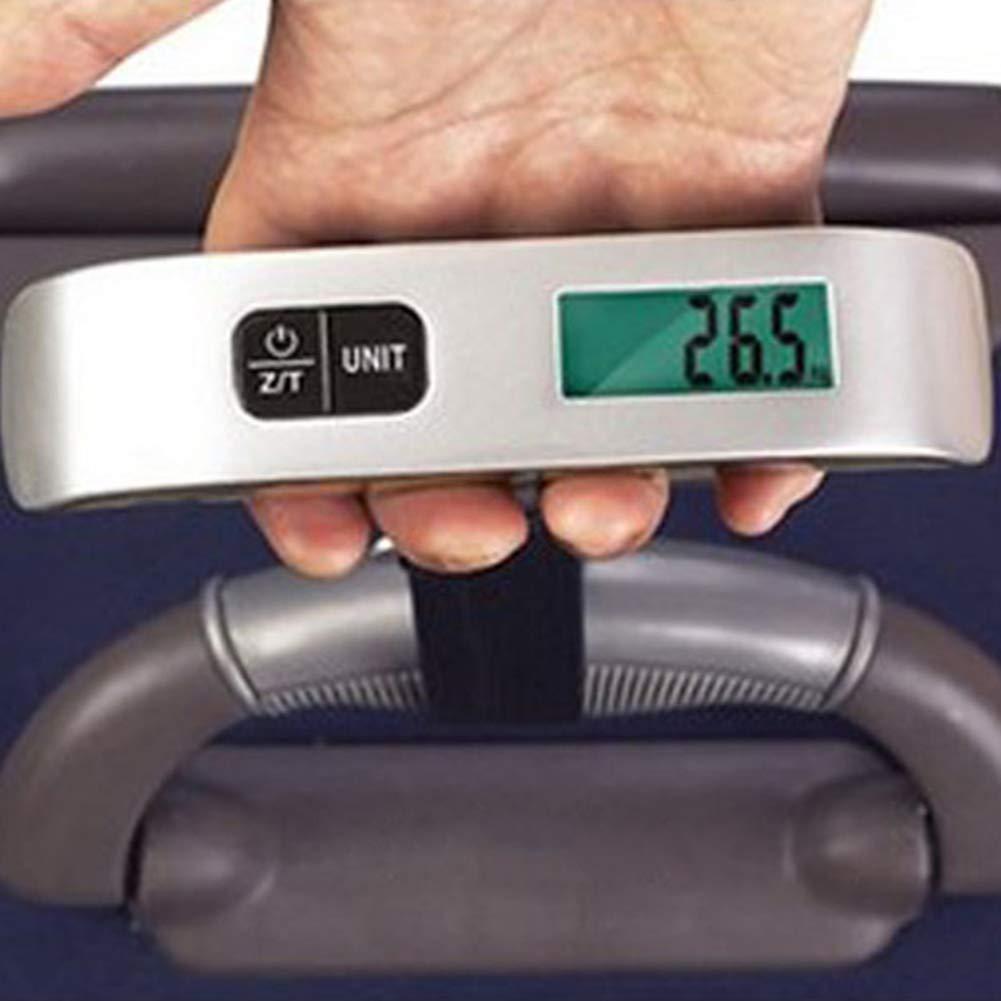 Ogquaton /1Pc 50kg 10g /Électronique Portable Num/érique Bagages Poids Pendaison Balance Voyage Durable et Utile