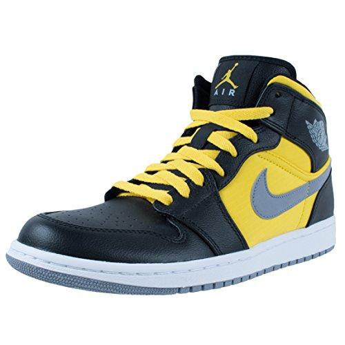 589902937b2 Mens Nike Air Jordan 1 Phat Basketball Shoes Black   Stealth   Speed Yellow  364770-050 Size 11.5 - Buy Online in Oman.
