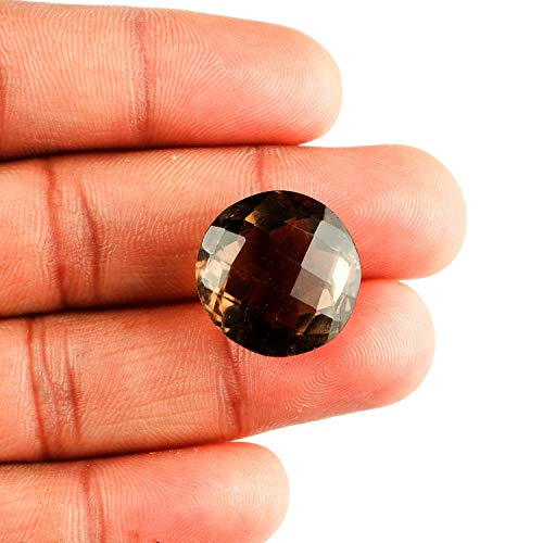 Jaguar Gems Smokey Quartz Gemstone Star Cut Stone DIY-Jewelry Making Specimen Chakra Healing Crystals Natural Loose Gemstones Supplies Christmas Special (20cts)