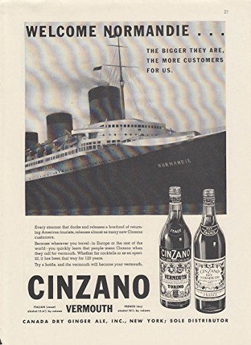 welcome-s-s-normandie-cinzano-vermouth-ad-1936-ny