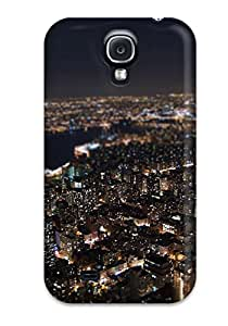 Galaxy Design High Quality Night Man Made Cover Case With Excellent Style For Galaxy S4