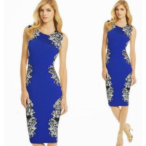 ANGATRADE -  Vestito  - Vestito - Senza maniche  - Donna Blue - blu