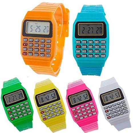 DISOK - Reloj Calculadora (Precio Unitario) - Relojes Infantiles, Niños. Regalos,