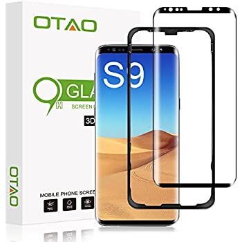 EiZiTEK EiZiShield Series Screen Protector Compatible with Samsung Galaxy S9, full Screen, not case Friendly, 3D Curved, 0.33mm Thick Touch Sensitive Tempered Glass, Clear, 1 Shield for Galaxy S9 high-quality
