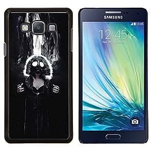 TECHCASE---Cubierta de la caja de protección para la piel dura ** Samsung Galaxy A7 ( A7000 ) ** --Máscara de gas Muchacha gótica atractiva