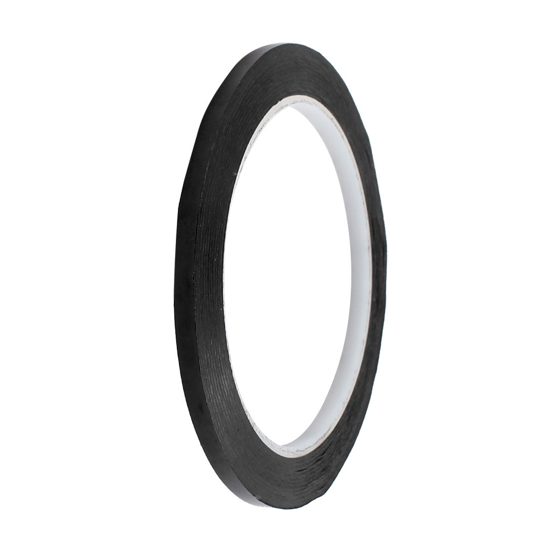 sourcingmap® 5mm x 66M Safety Caution Reflective Warning Sticker Adhesive Tape Black US-SA-AJD-364944