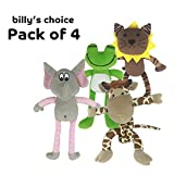 Billy's Choice ''I Love Animals'' Squeaky Dog Toy Gift Set