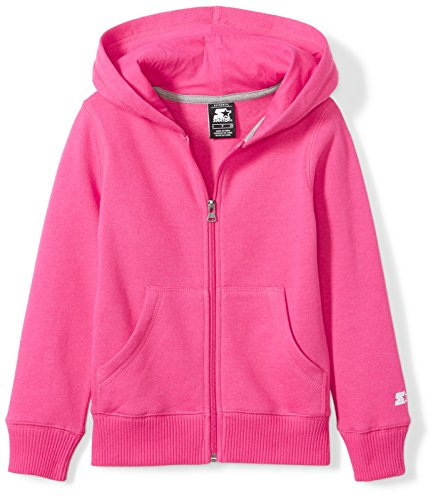 Starter Girls' Zip-Up Hoodie, Amazon Exclusive, Power Pink, L (10/12)