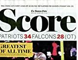 New England Patriots 2/6/2017 Boston Globe Patriots Win Super Bowl- Sports Section Only