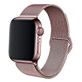 BMBEAR Compatible with Watch Band 38mm 40mm Stainless Steel Replacement Band for Watch Series 4 Series 3 Series 2 Series 1 Rose Gold