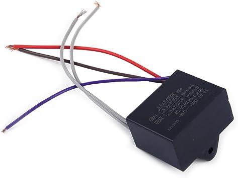 eastar CBB61 Condensador 2.5uF + 3.5uF + 4uF 5 Alambre 250VAC ...