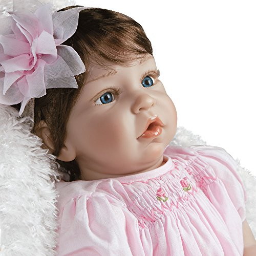 Paradise Galleries Reborn Toddler Baby in Silicone Vinyl Pretty in Pink, 20 inch Real Life Girl Doll, 6-Piece Doll Gift Set ()
