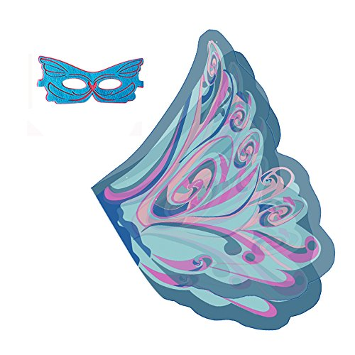 Butterfly Wings Fancy Dress (RioRand Kid's Dress-ups Set Butterfly Wings Shawl With Mask for Kids (Blue))