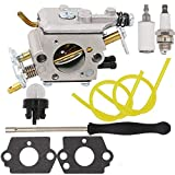 Notos Carburetor Kit with Adjustment Tool For Poulan Pro PP5020AV PP5020 PP5020AVX Chainsaw 2 Stroke PP4818A Gas Chainsaw 573952201,573 95 22-01 Craftsman 358.350980 358.350981 358.350982 Zama C1M-W47