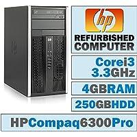 HP Compaq Pro 6300 MT/Core i3-2120 @ 3.3 GHz/4GB DDR3/250GB HDD/DVD-RW/WINDOWS 7 PRO 64 BIT