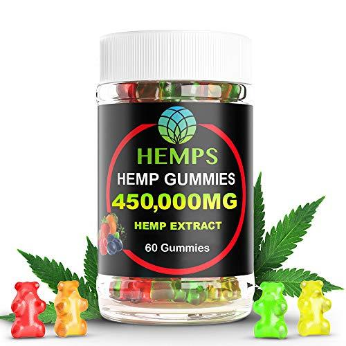 Premium-Hemp-Gummy-Bears-60-Count-450000mg-High-Potency-Hemp-Oil-Natural-Calm-Sleep-Aid-Stress-Pain-and-Anxiety-Relief-Inflammation-Nausea-Pure-Naturally-Occurring-Hemp-Oil-Organic