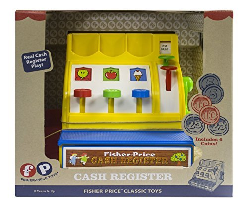51JNVvxLDrL - Fisher-Price Classic Toys - Retro Cash Register - Great Gift for Girls and Boys - Best for Babies and Toddlers 18 Months to 2 Years Old
