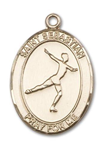 Amazon.com: Medalla de oro de 14 quilates de San Sebastián ...