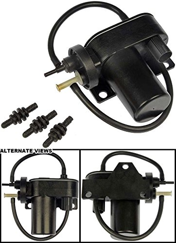 APDTY 015325 Vacuum Pump - Electric 12 Volt Supplemental For HVAC; Cruise; 4WD (Numerous Custom Uses)(BRPV7, VCP112, 6C3Z2A451A, 6C3Z2A451BA, F81Z2A451BA, 53032373AC)