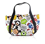 Finex Tsum Tsum Snap Closure Canvas Tote with Carry Handles – Travel Lunch Box Bag Diaper Bag Gym Tote Cosmetic Bags Review
