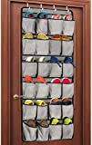 Unjumbly Over the Door Shoe Organizer, 24 Large