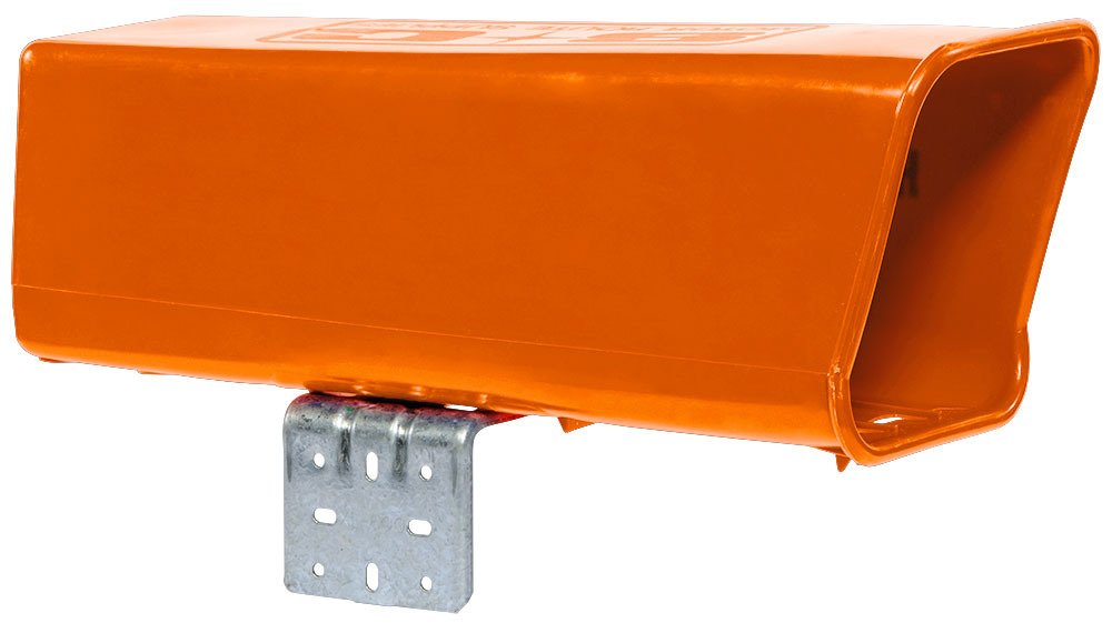 Plastic Newspaper Delivery Tube Box Receptacle & Mounting Bracket, Orange