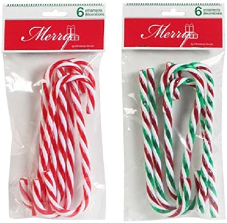1xPlastic Candy Cane Christmas Colorful Larger Stools Pendants Gifts H3F8