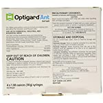 Syngenta - TRTD11568 - Optigard Ant Bait Gel Box - 4 Tubes w/ Plunger - 30g each tube 7 Target pests: For indoor and outdoor control of structure-invading ants including argentine ants, carpenter ants, and ghost ants and other nuisance ant pests; excluding fire, harvester and pharaoh ants. Highly attractive formula promotes ready transfer of the active ingredient throughout the colony Powerful, active ingredient knocks out workers, brood and queens