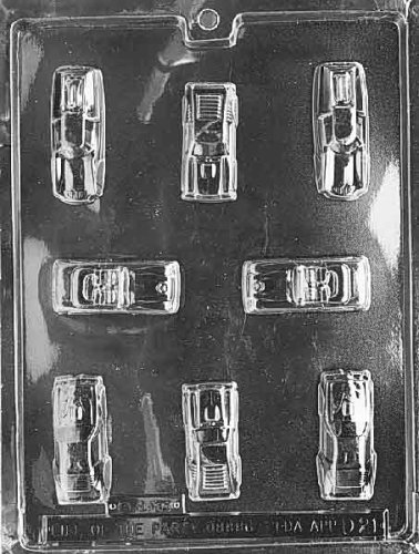 Car Chocolate Mold (Cybrtrayd Life of the Party D021 Cars Chocolate Candy Mold in Sealed Protective Poly Bag Imprinted with Copyrighted Cybrtrayd Molding Instructions)