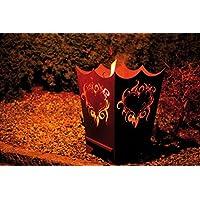 Feuerkorb Corten klein bronze Fire Basket ✔ rund ✔ rostig (Edelrost)